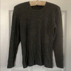 Burberry's Grey Cashmere pullover sweater